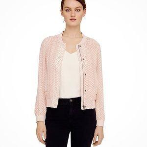 CLUB MONACO Jonie Dot Bomber Jacket